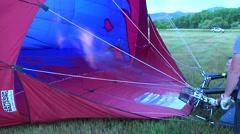 Hot Air Balloon Heating Air - stock footage