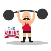 Weight lifting icon. Circus and Carnival design. Vector graphic Stock Illustration