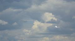 Lufthansa Boeing 737 climb Stock Footage