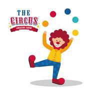 Clown icon. Circus and Carnival design. Vector graphic - stock illustration