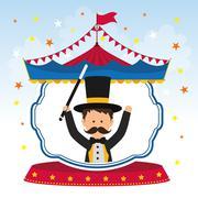 Magician icon. Circus and Carnival design. Vector graphic - stock illustration
