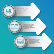 Infographic icon. Steps design. Vector graphic - stock illustration