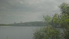 The Dnieper river in the summer. Kiev (Kyiv) . Ukraine. Stock Footage