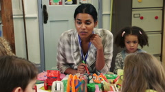 Arts and Crafts at Nursery Stock Footage