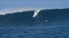 Wilco Barrel Cloudbreak Fiji Stock Footage
