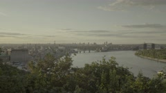 Kiev, Ukraine. City landscape: the River Dnepr day Stock Footage