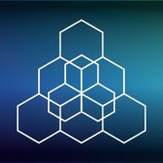 Sacred geometry icon. White Shape design. Vector graphic - stock illustration
