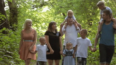 A large family with many children Stock Footage