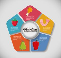 Infographic icon. Nutrition and Organic food. Vector graphic Stock Illustration