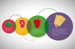 Infographic icon. Nutrition and Organic food. Vector graphic - stock illustration