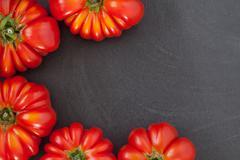 Beefsteak Tomatoes Frame Stock Photos