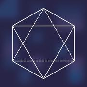 Sacred geometry icon. White Shape design. Vector graphic Stock Illustration