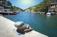 Fisherman village Cala Figuera in Mallorca, Spain Stock Photos