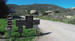 Multiple Signs At Laguna Coast Wilderness Park Stock Footage