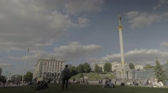 "The center of Kiev. The Capital Of Ukraine. Independence Square ""Maidan"" Stock Footage"
