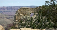 Angel's Window Grand Canyon North Rim Stock Footage