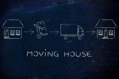 Packing and unpacking, moving house Stock Illustration