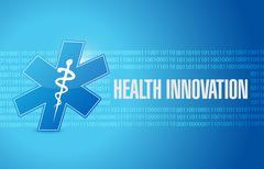 Health Innovation binary background concept sign Stock Illustration