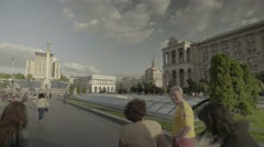 Kiev (Kyiv). Ukraine. People walk around the city. The city center Stock Footage