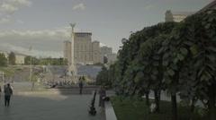 """Kiev (Kyiv) . Ukraine. The Independence Square. """"Maidan"""" Stock Footage"""