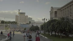 The architecture of the city of Kiev (Kyiv) . The Symbol Of Ukraine Stock Footage