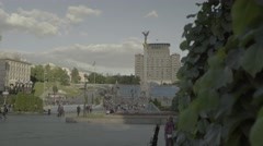 Kiev (Kyiv) . Ukraine. The center of the city. The Independence Square. Stock Footage