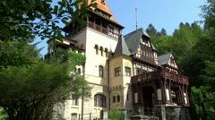 Castle Pelisor & Peles Sinaia, Romania - stock footage