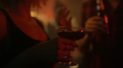 4K Attractive couple chatting & flirting at the bar in nightclub Stock Footage