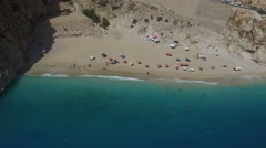 Antalya Kaputas BeachTurkey Aerial View Stock Footage