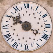 Clock tower in Gothic Renaissance style. Kuvituskuvat