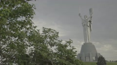 "The monument in the center of Kiev (Kyiv). The Monument ""Motherland"". Ukraine Stock Footage"