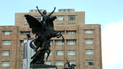 Monument in Mexico City Stock Footage