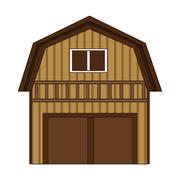 Wooden barn icon Stock Illustration