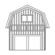 Wooden barn icon Stock Illustration