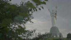 "The Symbol Of Kiev (Kyiv). The monument ""Motherland"" . Ukraine. Stock Footage"