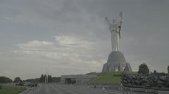 "Views Of Kiev. Ukraine. The monument ""Motherland"" Stock Footage"