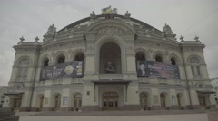 Kiev . Ukraine. Views of the city. The Building Of The National Opera Of Ukraine Stock Footage
