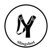 Hunting  slingshot  icon - stock illustration
