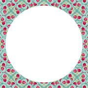 Stationery Background with Floral Design Borders Stock Illustration