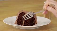 Sprinkled cinnamon on cake - stock footage