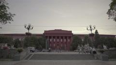 The symbol of Kiev. Building of the National Taras Shevchenko University Stock Footage