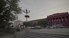 The symbol of Kiev. Ukraine. The building of the National University. Stock Footage