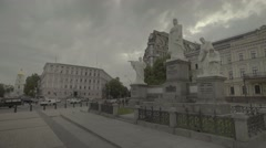 Architecture Of Kiev (Kyiv). The monument to Princess Olga Stock Footage