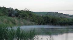 Lake water vapor Stock Footage