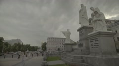 The monument to Princess Olga in Kiev (Kyiv) . Ukraine Stock Footage
