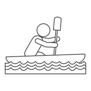 Rowing person pictogram icon Piirros