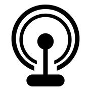 Wifi router signal icon Stock Illustration