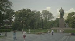 Kiev (Kyiv). The Monument To Taras Shevchenko. Architecture Of Kiev. Ukraine Stock Footage