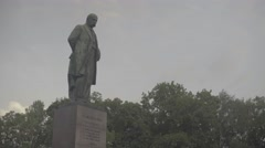 Architecture Of Kiev (Kyiv). The monument to poet Taras Shevchenko . Ukraine. Stock Footage