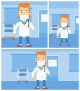 Ear nose throat doctor Stock Illustration